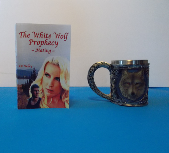 Picture of The White Wolf Prophecy - Mating - Book 1 By LK Kelley  (Paperback Book with Wolf Mug)